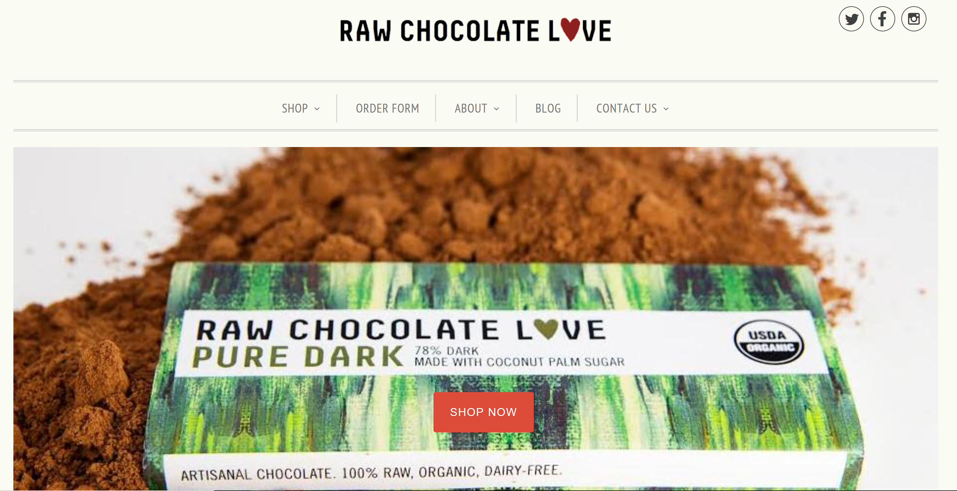 Raw Chocolate Love