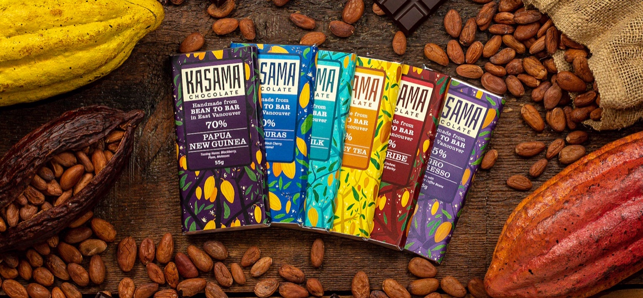 Kasama chocolate bars
