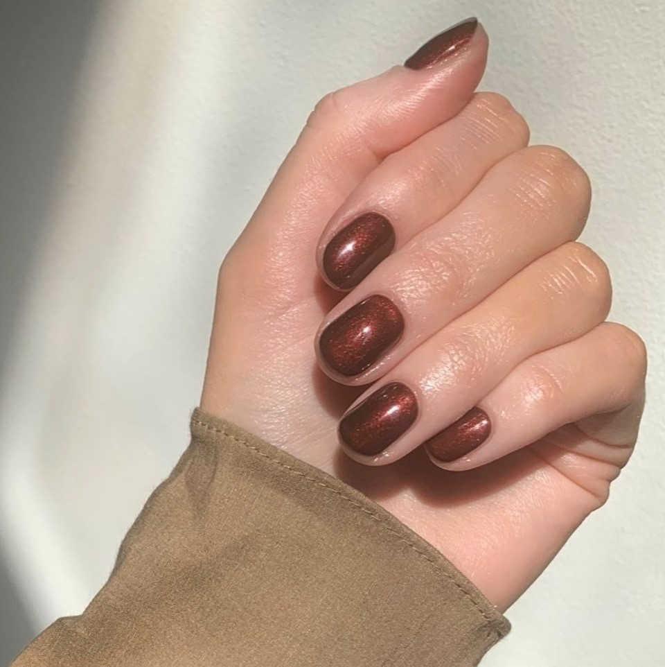 Chocolate brown nail polish