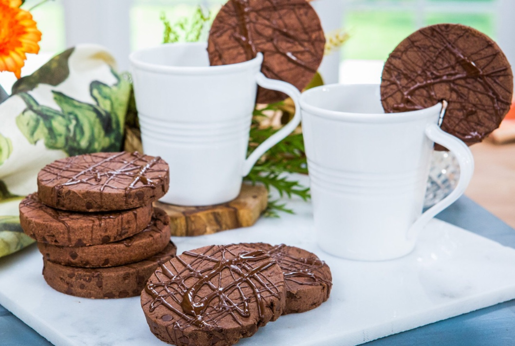 Triple chocolate mocha shortcake cookies