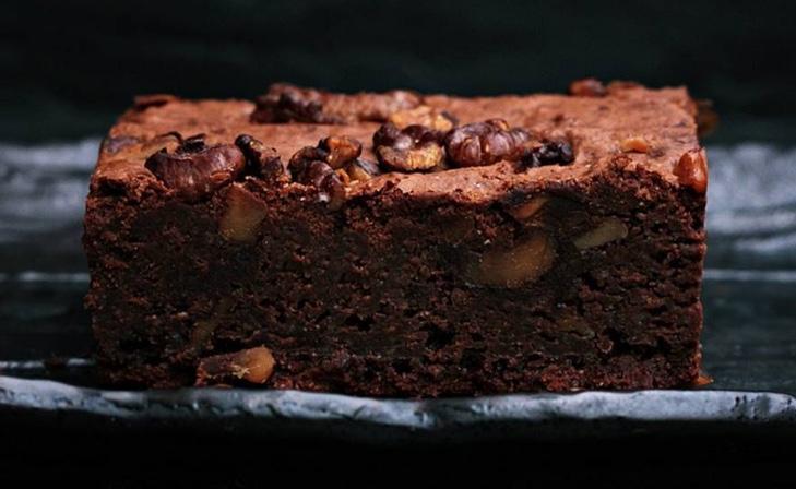 1 minute walnut brownie