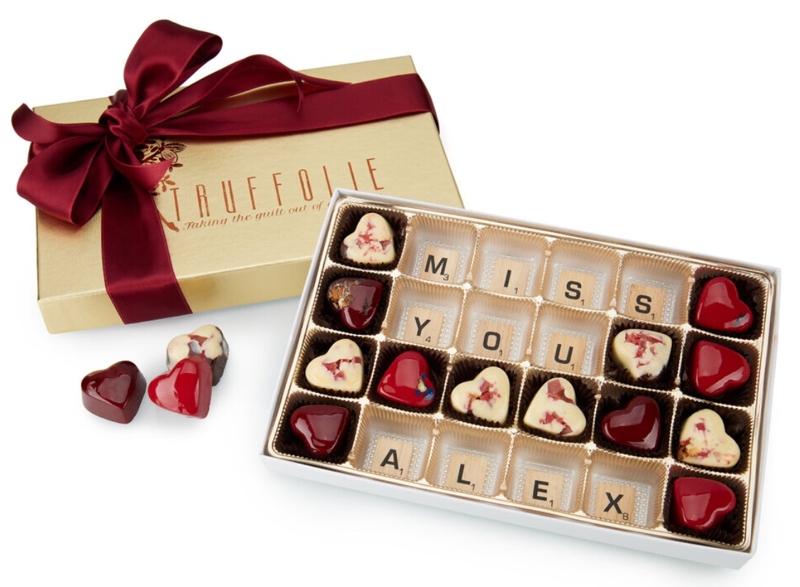 Message in chocolate box