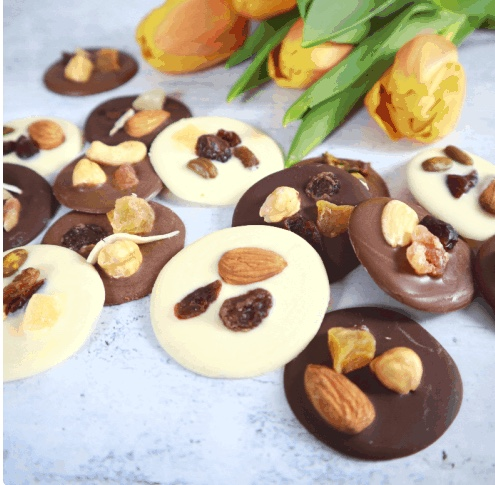 French chocolate mendiants