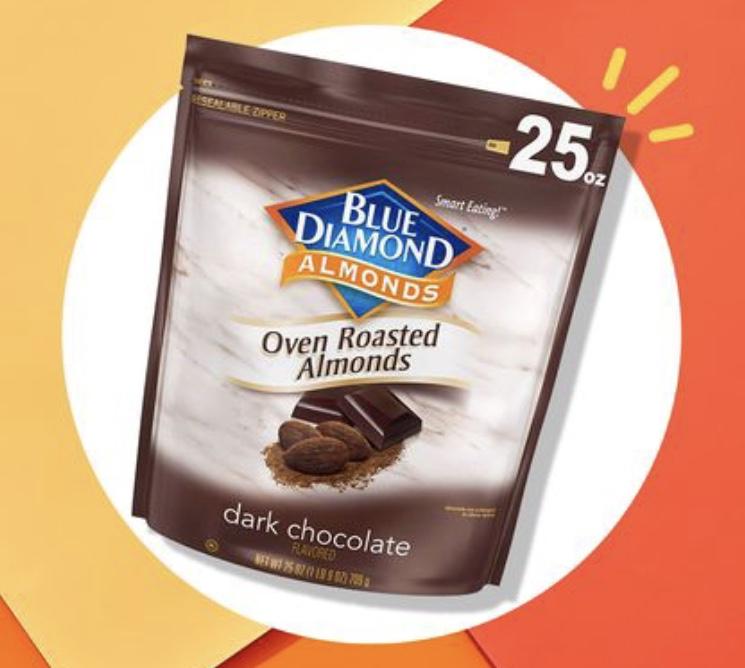Blue Diamond chocolate almonds