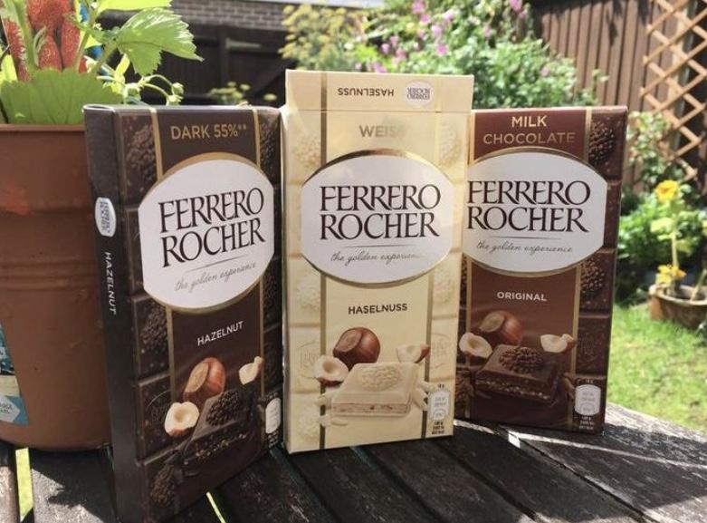 Rocher chocolate bars